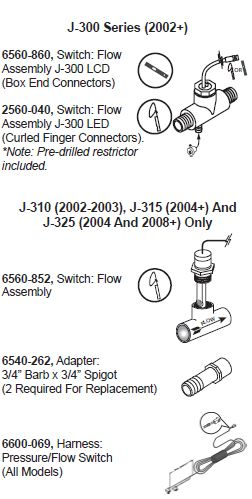JACUZZI SPA FLOW / PRESSURE SWITCH WIRING HARNESS | The Spa Works