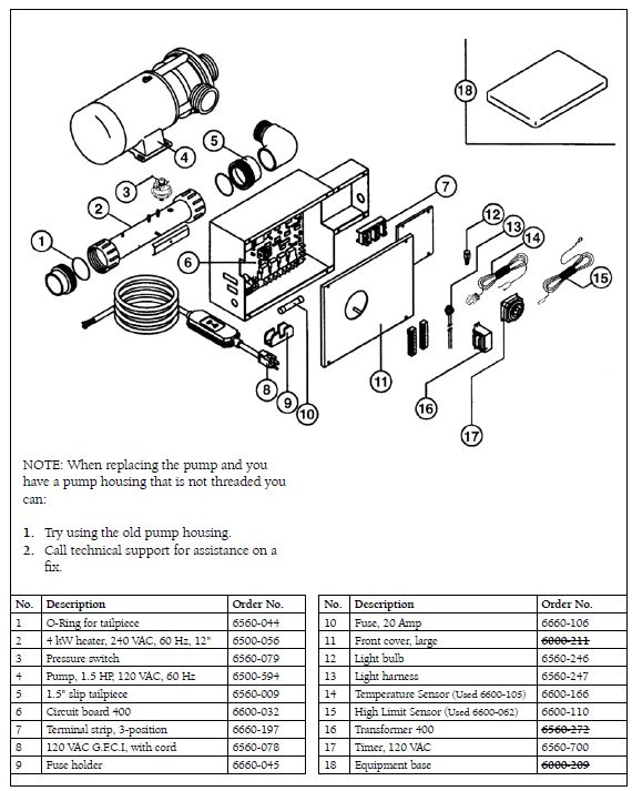 Spa Pump: Ultra Jet Spa Pump Manual on